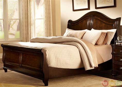 Kingston Bedroom Furniture Kingston Plantation Cognac Finish Sleigh Bedroom Set
