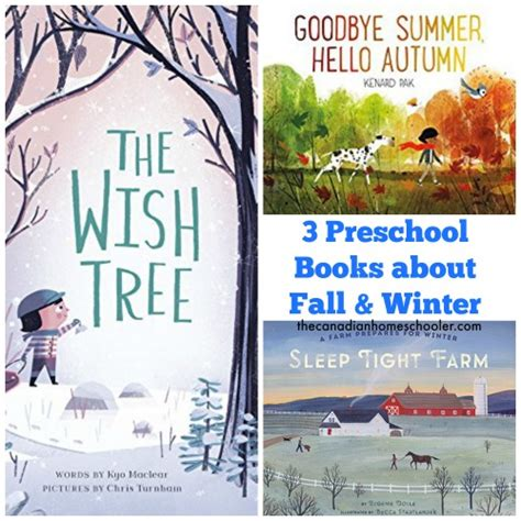 winterhouse books 3 preschool books about fall and winter seasons