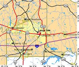 Longview Tx To Tx Map Longview