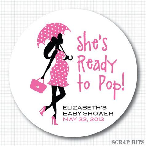 ready to pop stickers template ready to pop with umbrella personalized