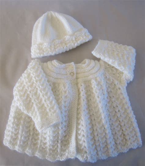 baby knitted jackets newborn baby sweater cardigan and hat set knitted