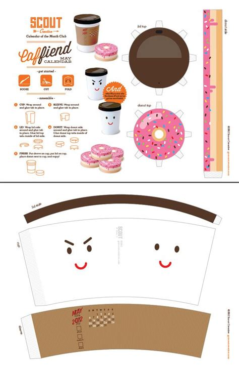 Papercraft Food - anime papercraft templates calendrier mai2012 paper