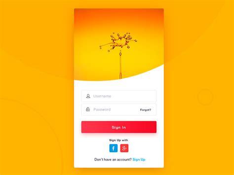 orange mobile login 50 beautiful web mobile form designs web graphic