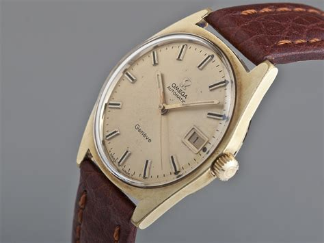 vintage omega geneve gold plated automatic kaye