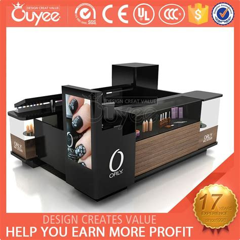nail shopping high quality wooden shopping mall nail kiosk design for