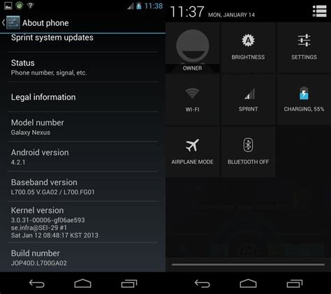 sprint android update sprint galaxy nexus jelly bean 4 2 update leaks