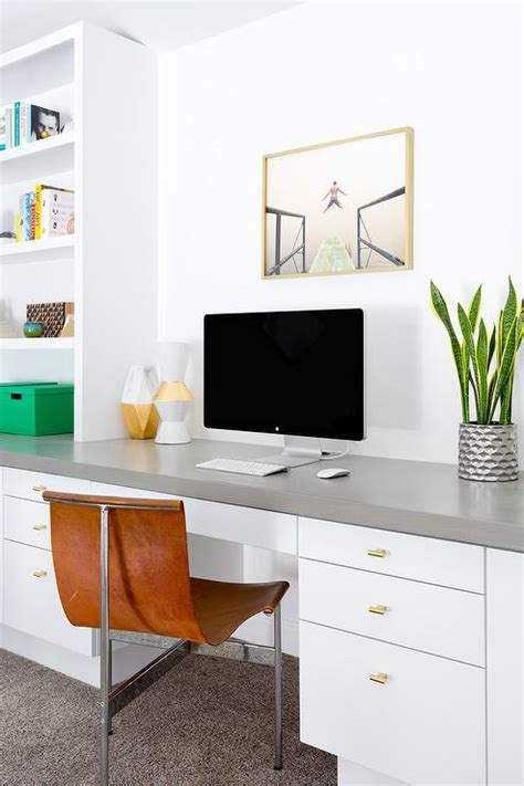 Built In Desk Design Ideas Modern Built In Desk