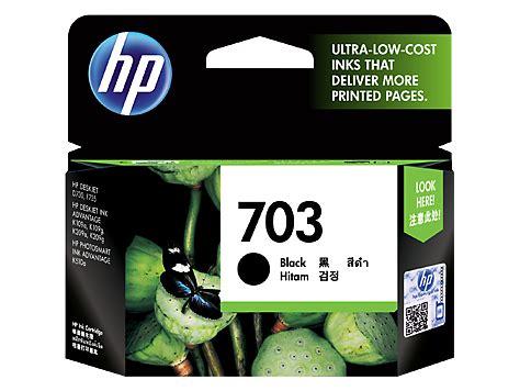 Cartridge Tinta Original Hp 703 Black Cd887aa hp 703 black original ink advantage cartridge cd887aa hp 174 india