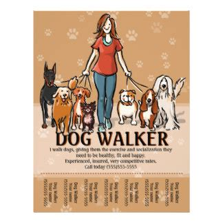 dog training flyers programs zazzle