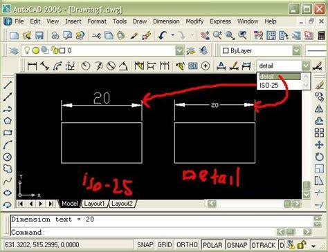 Tutorial Autocad Untuk Desain Interior | tutorial menambahkan format dimensi untuk gambar detail di