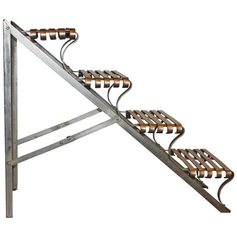 foldable stairs industrial folding steel library stairs at 1stdibs