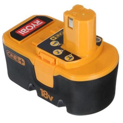 ryobi 18v battery charger manual ryobi one 18 volt ni cd battery p100 the home depot
