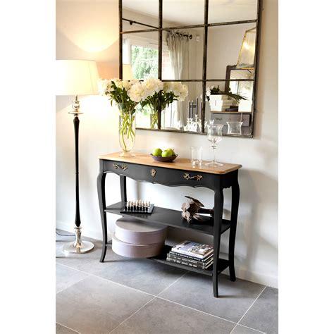 console de chambre table console murale en bois avec plateau bois massif et