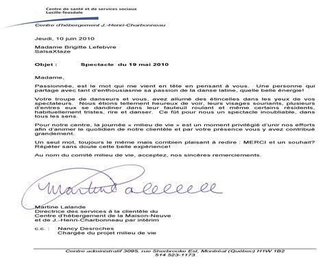 Lettre De Remerciement Québec salsaxtaze chsld