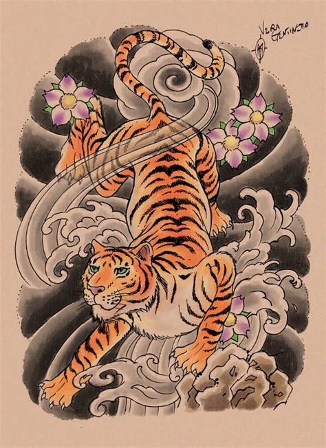japanese tiger tattoo design 53 japanese tiger tattoos and ideas