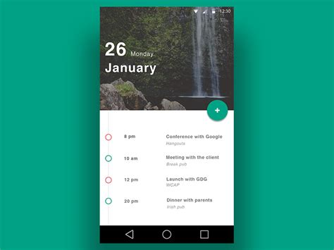calendar design in android calendar material design by gianluca cosetta dribbble