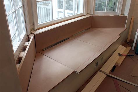 how to build a bay window bench seat with storage storage bench seat build quick woodworking projects