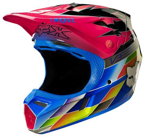 pink motocross helmet fox racing v3 image sx15 atlanta le helmet revzilla