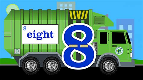 garbage trucks for kids garbage truck number counting garbage trucks count 1 to