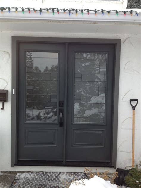 Masonite Doors Exterior Mondrian Glass Insert By Masonite Graphite Coloured Entry Doors Portatec Doors