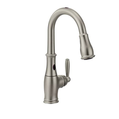 pictures of moen kitchen faucets 7185esrs moen brantford series hands free kitchen