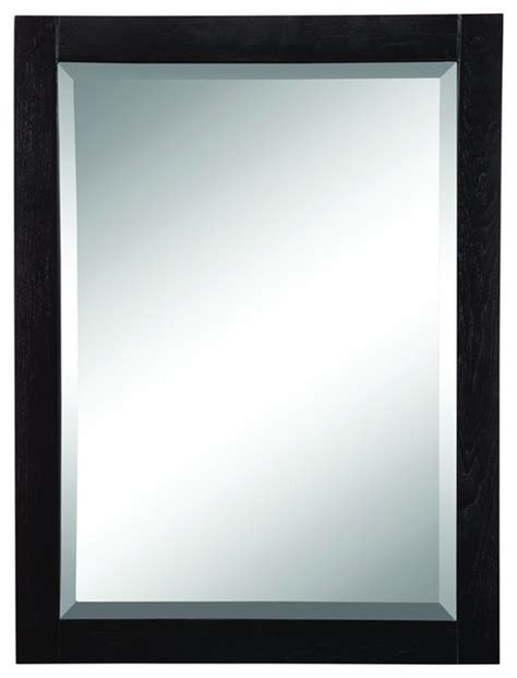 bathroom mirror black decolav 9719 bka briana wall mirror in black traditional