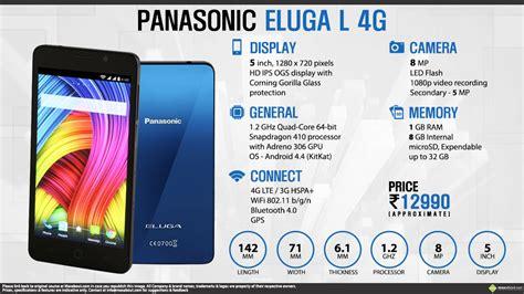 Hp Panasonic Eluga L 4g facts panasonic eluga l 4g