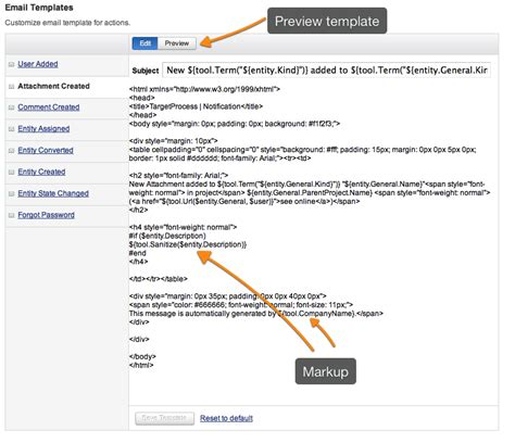 email notification templates how to change an email notification template