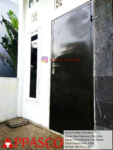 pintu besi plat esser buat pintu belakang rumah  grand