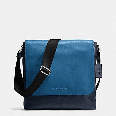 coach f72108 sullivan small messenger in sport calf leather midnight denim coach