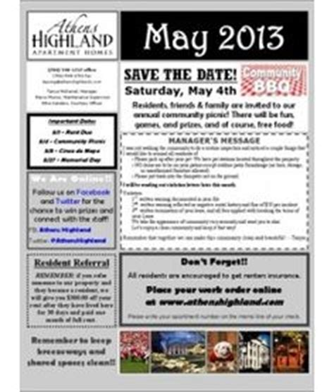 Make A Monthly Newsletter For Your Neighborhood Association With Pre Designed Templates From Tenant Newsletter Template