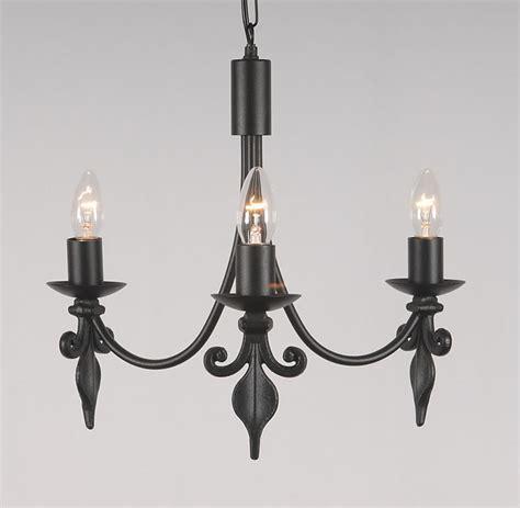 Candle Ceiling Light The Fleur De Lys 3 Arm Wrought Iron Candle Ceiling Light Bespoke Lighting Co