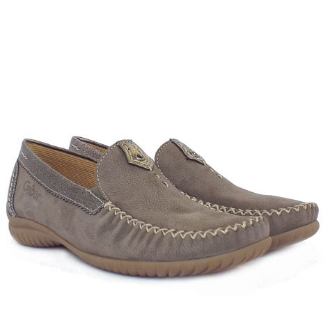 wide fit womens loafers gabor shoes california womens wide fit loafer in taupe