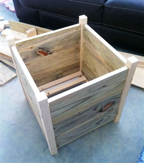 how to build box planters garden pinterest