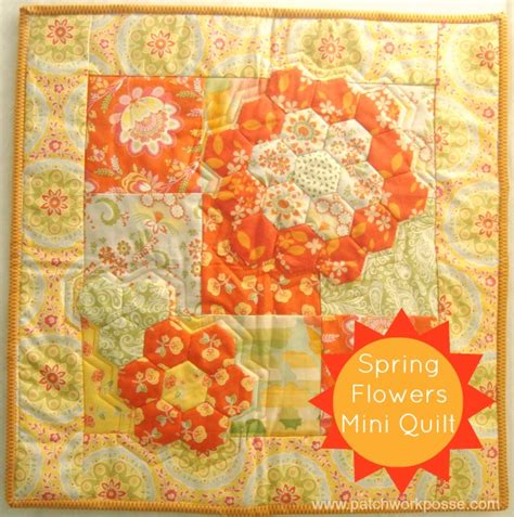 Flower Patchwork Quilt - flowers a hexagon quilt