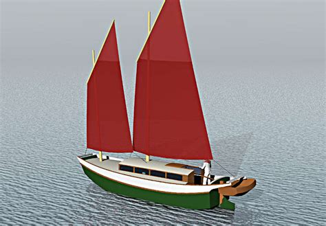 laura cove 28 sailing scow small boat designs by tad - Scow Boat Designs