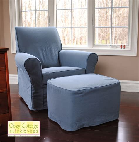 slipcover chair and ottoman cozy cottage slipcovers chair and ottoman slipcover