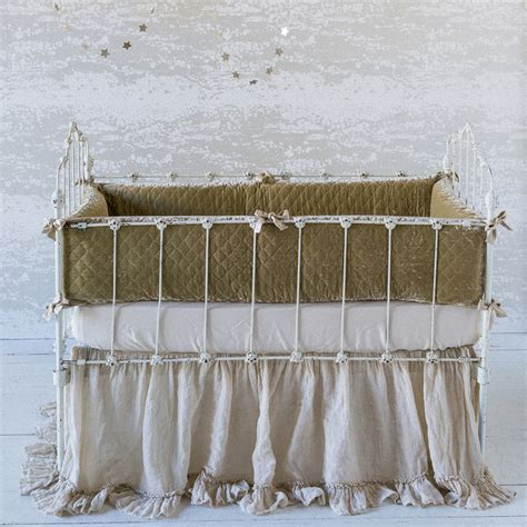 Quilted Crib Sheet by Silk Velvet Quilted 3 Crib Bedding Set By