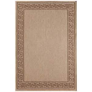 view 8 x 10 brown amp beige greek key scroll patio rug