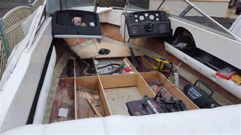 fiberglass boat deck repair boat deck floor restoration tutorial how to fix mend