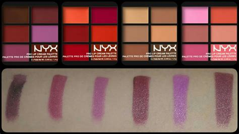 Lipstick Palette Nyx new nyx pro lip palettes review swatches