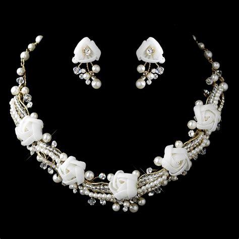 Brautschmuck Set Strass by Pearl Rhinestone Swarovski Flower Jewelry Sets