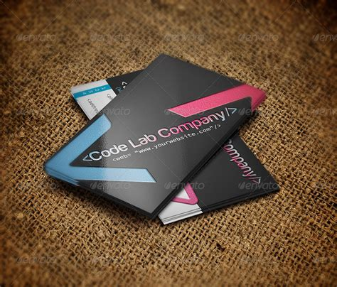 business card template software 25 web developer business card psd templates