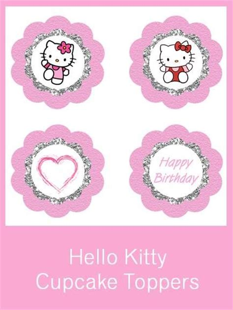 hello cupcake topper template hello cupcake toppers free pdf