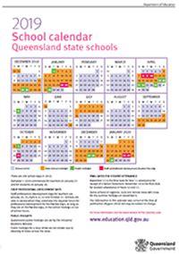 school holiday calendar  qld  calendar