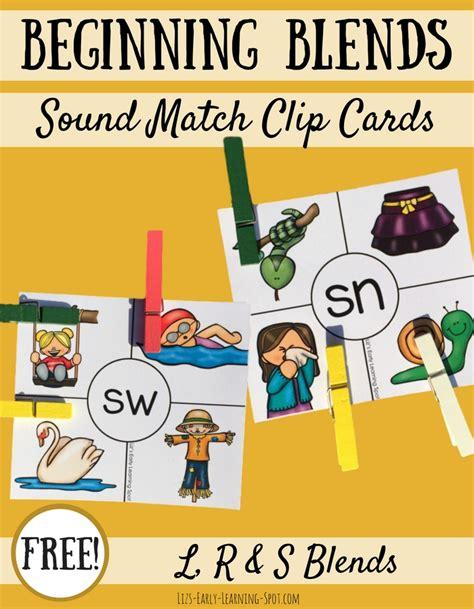 Beginning Consonant Blends Clip Cards Liz S Early