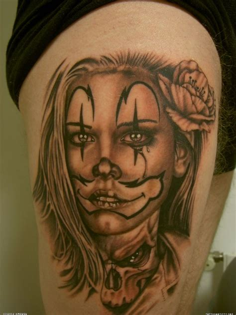 latino tattoos clown make up gladys alvarez chicano tatoos boog