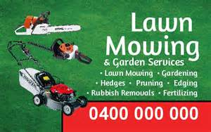 lawn mowing business cards business cards single side