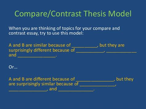 Thesis Statement For A Compare And Contrast Essay by 20 Top Tips For Writing In A Hurry Compare And Contrast Essay Questions