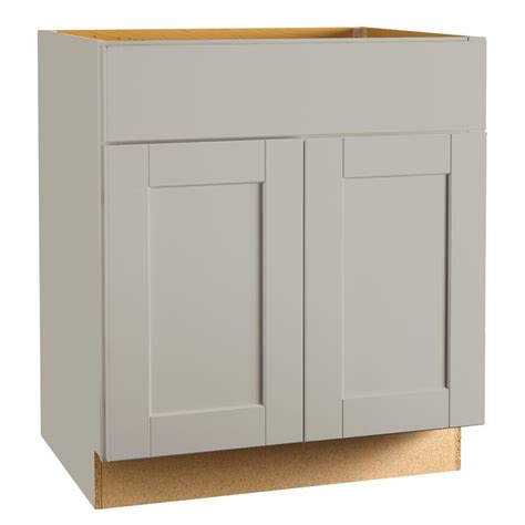 hton bay shaker cabinets hton bay shaker assembled 30x34 5x24 in sink base kitchen cabinet in dove gray ksb30 sdv
